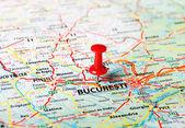 Bucuresti, карта румынии — Стоковое фото