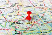 Craiova ,Romania map — Stock Photo
