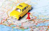 Greece taxi map — Stock fotografie