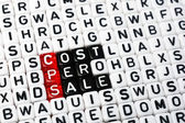 CPS Cost Per Sale dices — Stock Photo