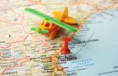 Valencia  ,Spain map flight — Stock Photo