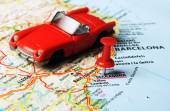 Auto de Tarragona España mapa — Foto de Stock