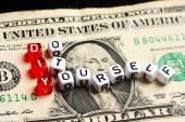 DIY Do It Yourself dollar bill — Stockfoto
