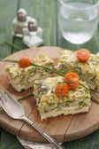 Frittata with Zucchini, Cheese and Dill — Stock Photo
