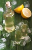 Homemade lemonchelo — Stock Photo