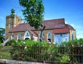 Ancient colonial church. Jamaica — Stock Photo