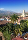 Aerial view of Trinidad with Lucha Contra Bandidos, Cuba — Stock Photo
