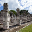 Hall of the Thousand Pillars - Columns at Chichen Itza, Mexico — Stock Photo #60152837