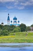 Pokrova Bozhiej Materi's orthodox church in Marienburg, Gatchina, Russia — Stock Photo
