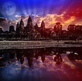 Angkor wat sunrise, Siem reap,Cambodia, was inscribed on the UNESCO World Heritage List in 1992. Elements of this image furnished by NASA. — Stock Photo