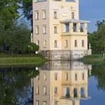 Russia, Peterhof (Petrodvorets). Olga's Pavilion on island in Olga's pond. — Stock Photo #67744795