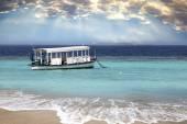 Maldives. A  national boat  at ocean — Stock Photo