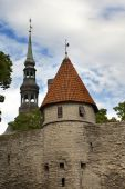 View of Old city's roofs. Tallinn. Estonia. — Stock Photo
