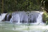 Jamaica. Dunn's River waterfalls — Stock Photo