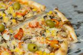 Fresh Vegetarian Pizza — Stock Photo