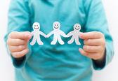 Happy People Paper Chain — Stock Photo