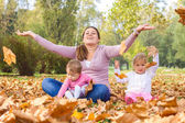 Happy Mother Enjoyment Beautiful Autumn Day  — Stock Photo