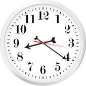 Modern clock — Vetor de Stock