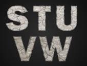Stone letters — Vetorial Stock