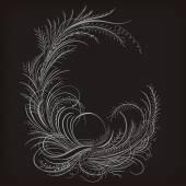 Calligraphy frame. — Stock Vector