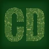 PCB symbols — Stock Vector