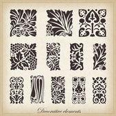 Caligraphic design elements — Stock Vector