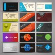 Set of business cards — Stock Vector #76293257