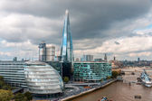 LONDON -AUGUST 6: London Skyline with City Hall, Shard, River Th — Stock Photo
