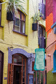 LONDON -AUGUST 16: Hauses at Neal's Yard on August 16, 2014 in L — Stock Photo