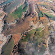 Aerial view of agricultural fields in La Garrotxa, Catalonia — Stock Photo #63753933