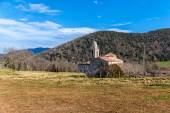 Romanesque church in La Garrotxa, Catalonia — Stock Photo