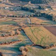 Aerial view of agricultural fields in La Garrotxa, Catalonia — Stock Photo #67416269
