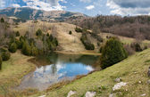 Glacial lake in the Catalan Pyrenees — Stock Photo