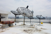 Satellites dishes — Stock Photo