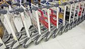 Baggage carts — Stock Photo