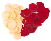 Rose petal heart — Stock Photo