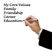 Valores fundamentales — Foto de Stock