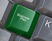 Keyboard with key for business plan — Stock Photo