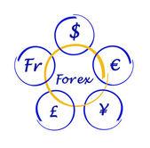Forex diagram — Stock Photo