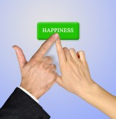 Button for happiness — Stock Photo