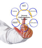 Secure Information System — Stock Photo