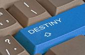 Keyboard with key for destiny — Stock Photo