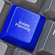 Keyboard with hot key for estate planning — Stock Photo #57066043
