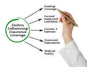 Factors Influencing Insurance Coverage — Stock Photo