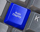 Keyboard with hot key to auto deploy — Stock Photo