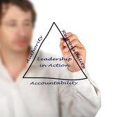 Diagram of leadership — ストック写真