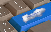 Keyboard with key for cloud storage — Stock Photo