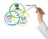 Presentation of diagram of sustainability — Stock Photo