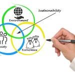 Presentation of diagram of sustainability — Stock Photo #60764575