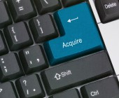 Keyboard with hot key to acquire — Stock Photo